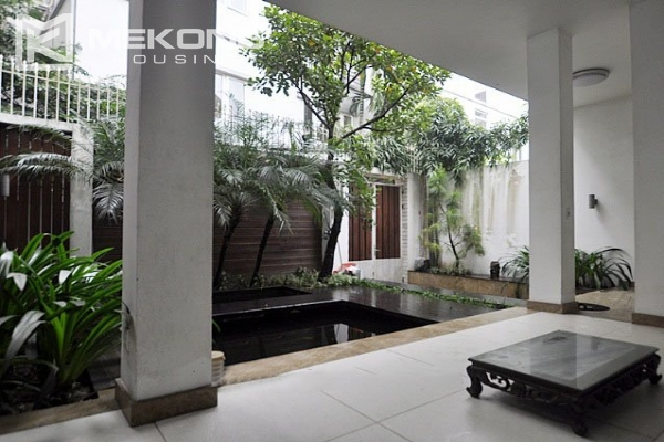 Modern designed villa with open living space for rent in Tay Ho district 1