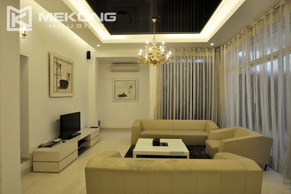 Modern designed villa with open living space for rent in Tay Ho district 3