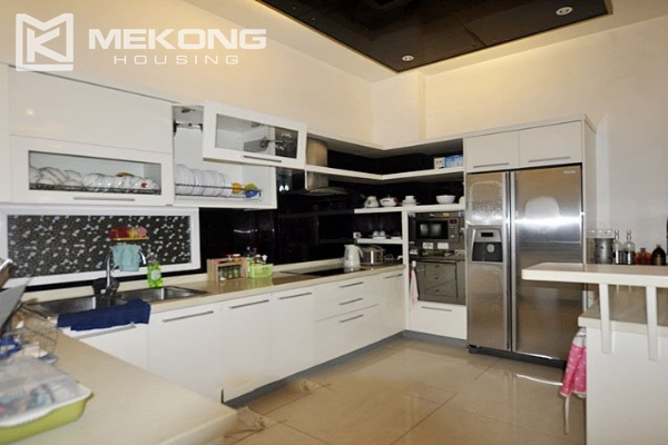 Modern designed villa with open living space for rent in Tay Ho district 4