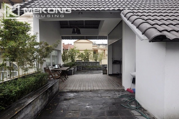 Modern designed villa with open living space for rent in Tay Ho district 10