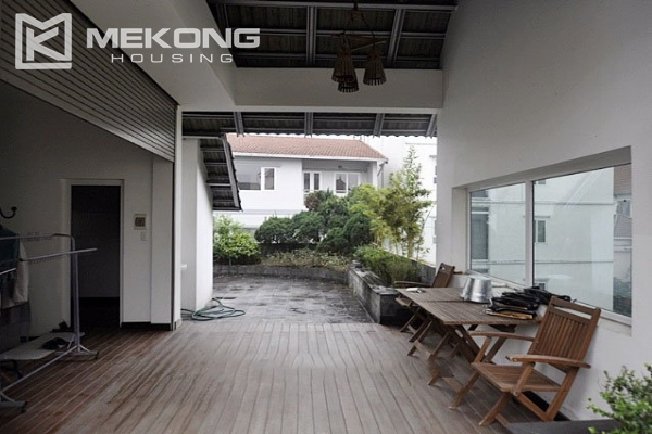 Modern designed villa with open living space for rent in Tay Ho district 12