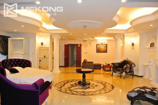 Modern furnished penthouse apartment with cozy 1 bedrooms for rent near Ba Dinh square, Hanoi 1