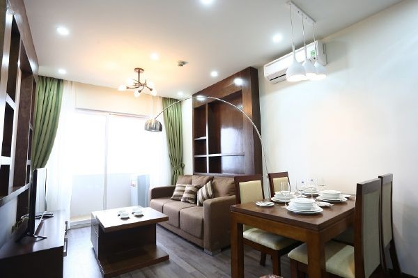 Modern serviced apartment with 2 bedrooms for rent in Cau Giay street, Cau Giay, Hanoi