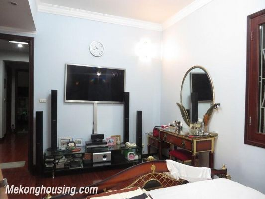 Modern villa with nice garden for rent in Van Bao street, Ba Dinh, Hanoi 16