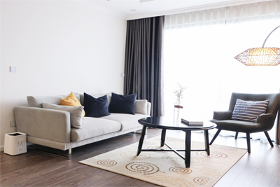 Modernly designed apartment with 3 bedrooms for rent in Sunshine Riverside, Ciputra Hanoi