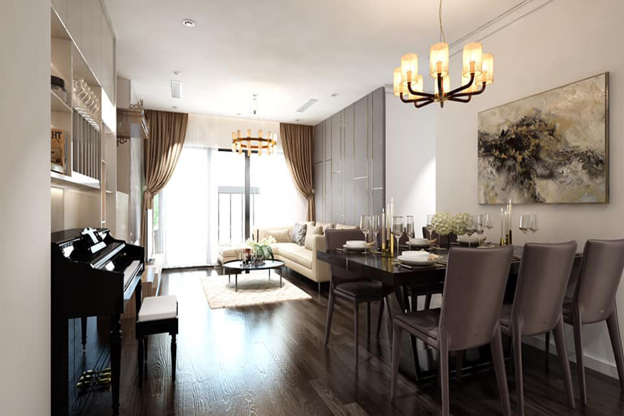 Modernly designed apartment with 3 bedrooms for rent in Sunshine Riverside Tay Ho, Hanoi 1