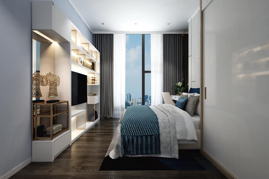 Modernly designed apartment with 3 bedrooms for rent in Sunshine Riverside Tay Ho, Hanoi 9