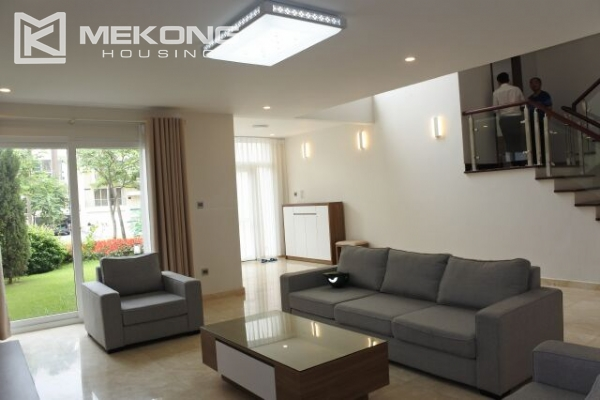 Modernly furnished villa with spacious garden and 7 bedrooms in Q block, Ciputra Hanoi 5