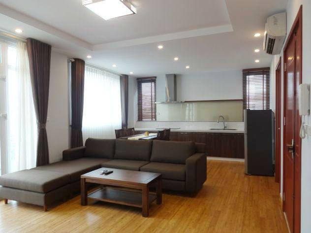 New and full furniture serviced apartment for rent in Yen Phu street, Tay Ho, Hanoi