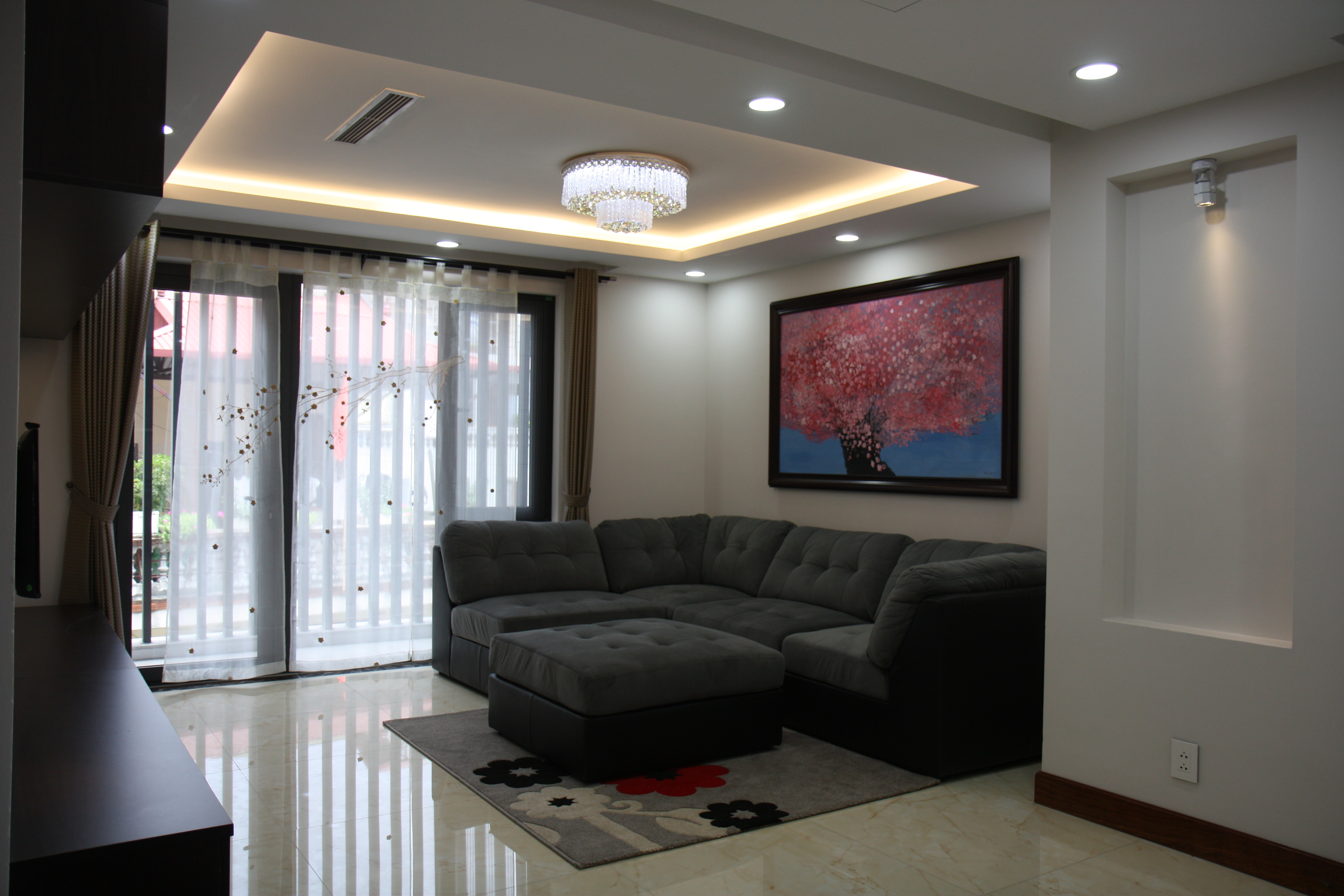 Newly furnished apartment with 2 bedroom for rent in Trich Sai street, Tay Ho, Hanoi