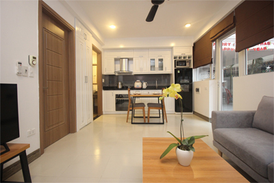 Nice serviced apartment with 1 bedroom for rent on To Ngoc Van street, Tay Ho district