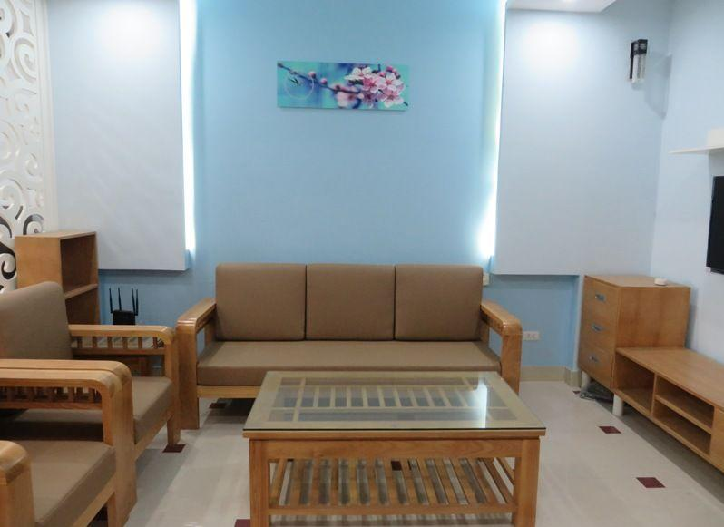 Nice serviced apartment with 2 bedrooms for rent in Tran Phu street, Ba Dinh district, Hanoi