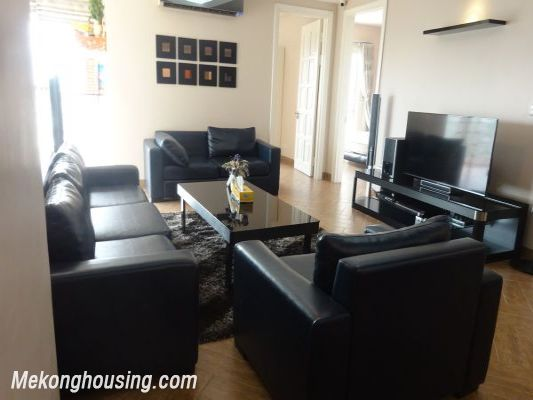 Nicely furnished 3 bedroom apartment with nice view for rent in E4 tower, Ciputra, Tay Ho, Hanoi 1