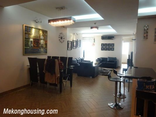 Nicely furnished 3 bedroom apartment with nice view for rent in E4 tower, Ciputra, Tay Ho, Hanoi 2