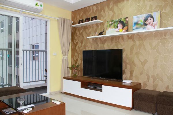 Nicely furnished apartment for rent in Golden Palace with 2 bedrooms