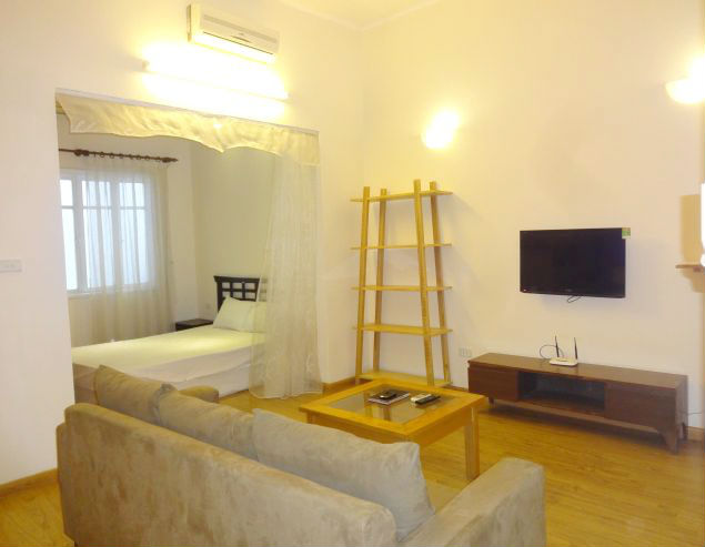 One bedroom serviced apartment for rent in To Ngoc Van street, Tay Ho district, Hanoi