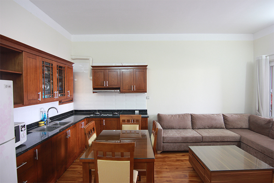 One bedroom serviced apartment for rent on Au Co street, Hanoi 4