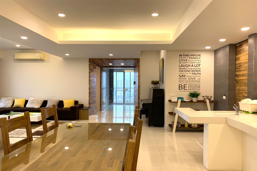 Outstanding apartment with modern design for rent in E5 tower Ciputra 1