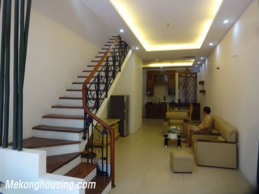Partly furnished house with 4 bedrooms for rent in Dang Thai Mai, Tay Ho, Hanoi. 3