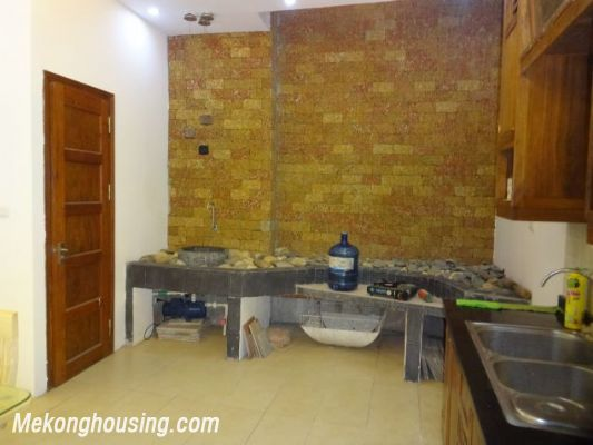 Partly furnished house with 4 bedrooms for rent in Dang Thai Mai, Tay Ho, Hanoi. 5