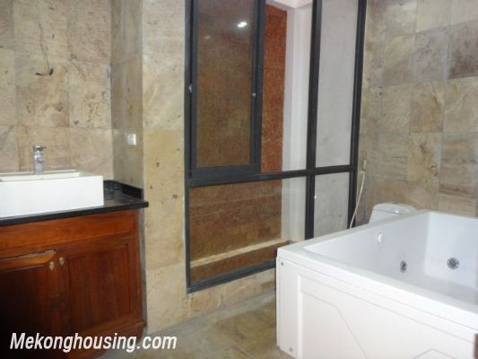 Partly furnished house with 4 bedrooms for rent in Dang Thai Mai, Tay Ho, Hanoi. 11