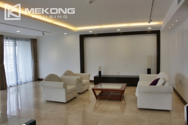 Serviced apartment with lake view and 3 bedrooms for rent in Tay Ho 1