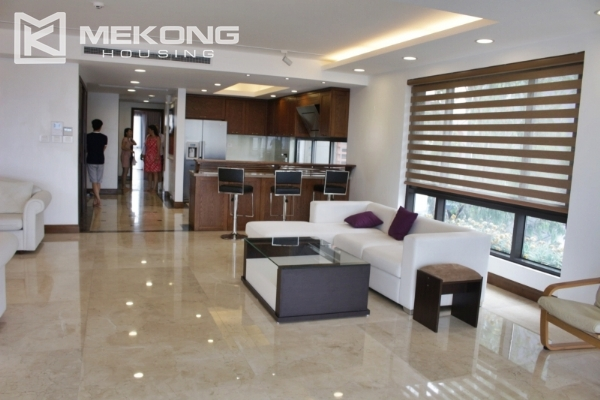 Serviced apartment with lake view and 3 bedrooms for rent in Tay Ho 3