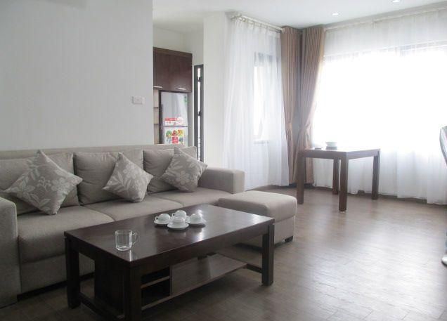 Serviced apartment with one bedroom for rent in Dich Vong, Cau Giay, Hanoi