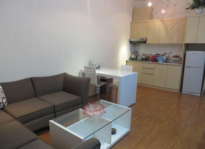 Serviced apartment with one bedrooms for rent in Dao Tan street, Ba Dinh district, Hanoi