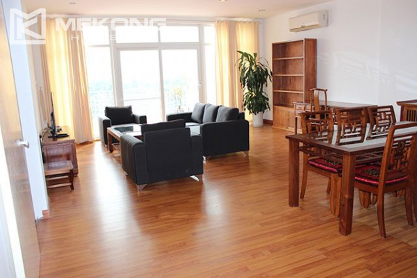 Spacious 2 bedroom apartment with Truc Bach lake view for rent 1