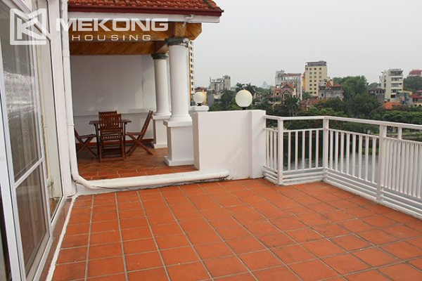Spacious 2 bedroom apartment with Truc Bach lake view for rent 15
