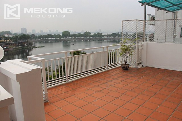Spacious 2 bedroom apartment with Truc Bach lake view for rent 16