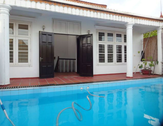 Spacious 5 floors house with swimming poor for rent in To Ngoc Van street, Tay Ho, Hanoi