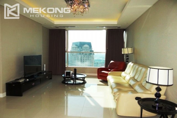 Spacious and modern furnished apartment with 3 bedrooms for rent in Keangnam Hanoi Tower 1