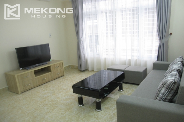 Spacious serviced apartment with 1 bedroom for rent in Van Cao street, Ba Dinh 1