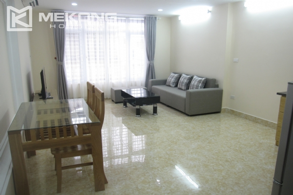 Spacious serviced apartment with 1 bedroom for rent in Van Cao street, Ba Dinh 2