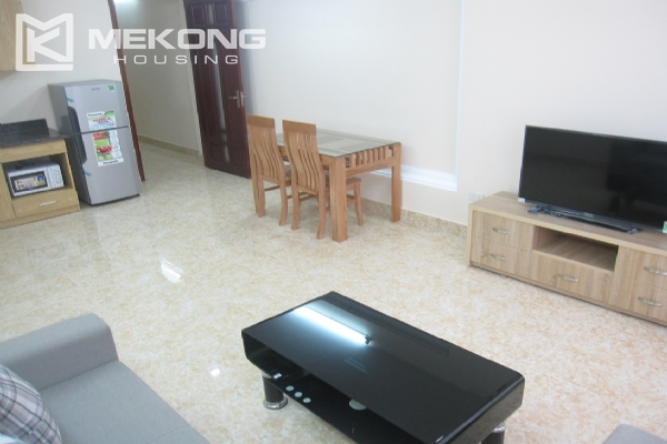 Spacious serviced apartment with 1 bedroom for rent in Van Cao street, Ba Dinh 3