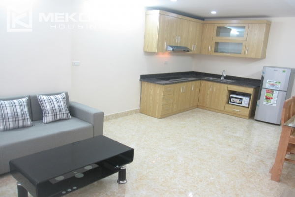 Spacious serviced apartment with 1 bedroom for rent in Van Cao street, Ba Dinh 4
