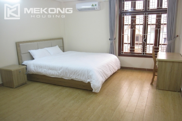 Spacious serviced apartment with 1 bedroom for rent in Van Cao street, Ba Dinh 6