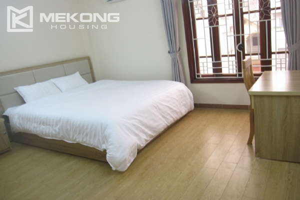 Spacious serviced apartment with 1 bedroom for rent in Van Cao street, Ba Dinh 7