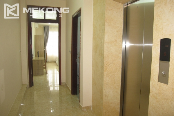 Spacious serviced apartment with 1 bedroom for rent in Van Cao street, Ba Dinh 10