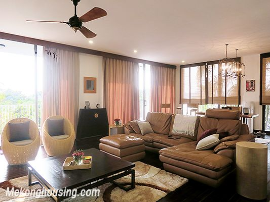 Spacious serviced apartment with 4 bedrooms, large balcony and lake view in Xom Chua, Tay Ho 3