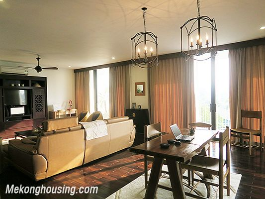 Spacious serviced apartment with 4 bedrooms, large balcony and lake view in Xom Chua, Tay Ho 4