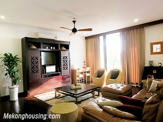 Spacious serviced apartment with 4 bedrooms, large balcony and lake view in Xom Chua, Tay Ho 5