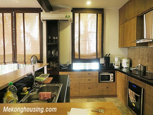 Spacious serviced apartment with 4 bedrooms, large balcony and lake view in Xom Chua, Tay Ho 10