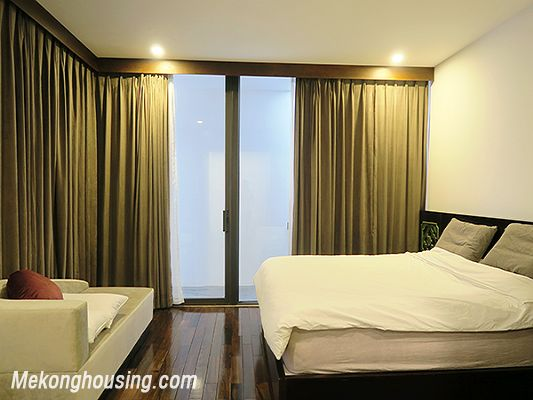 Spacious serviced apartment with 4 bedrooms, large balcony and lake view in Xom Chua, Tay Ho 13