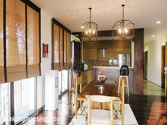 Spacious serviced apartment with 4 bedrooms, large balcony and lake view in Xom Chua, Tay Ho 9