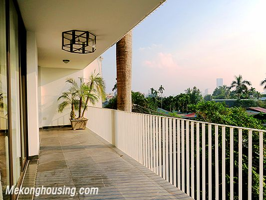 Spacious serviced apartment with 4 bedrooms, large balcony and lake view in Xom Chua, Tay Ho 20