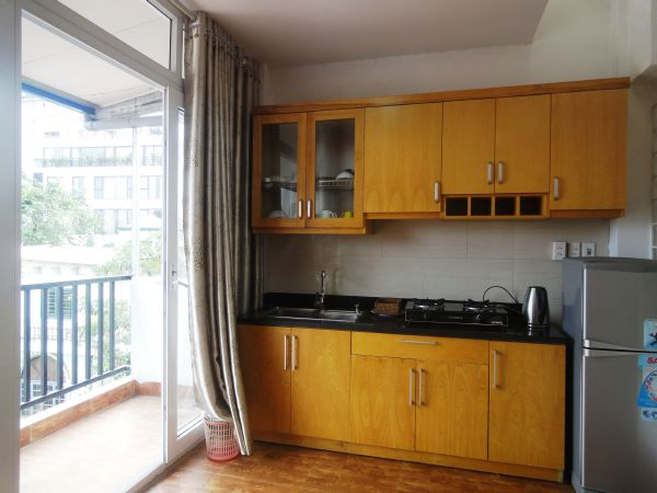 Spacious serviced apartment with one bedroom for rent in Kim Ma street, Ba Dinh, Hanoi