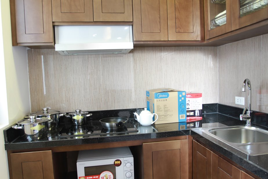 Studio serviced apartment for rent in Pham Tuan Tai street, Cau Giay district, Hanoi